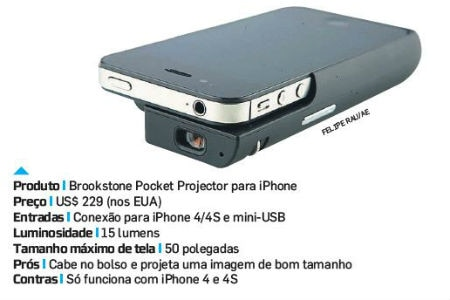 Filmes na parede for Brookstone pocket projector micro
