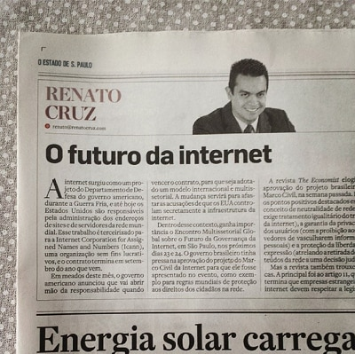 Coluna do Renato Cruz: O futuro da internet