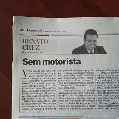 Coluna do Renato Cruz: Sem motorista